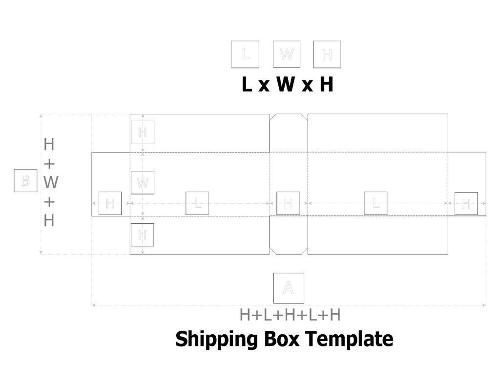 Cardboard Box Template Generator Cardboard Box Template 7 Steps
