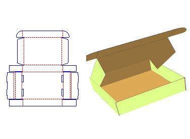 Cardboard Box Template Generator Free Paper Box Dieline Template and 3d Mockup Shanghai