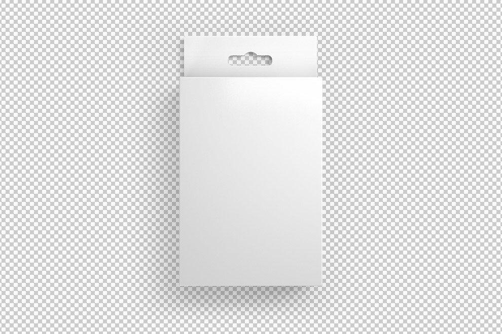 Cardboard Box Template Generator Front View Hang Tab Box Mockup Generator Mediamodifier
