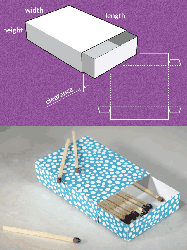 Cardboard Box Template Generator Preview Of Template Dimensions and Result for the Match