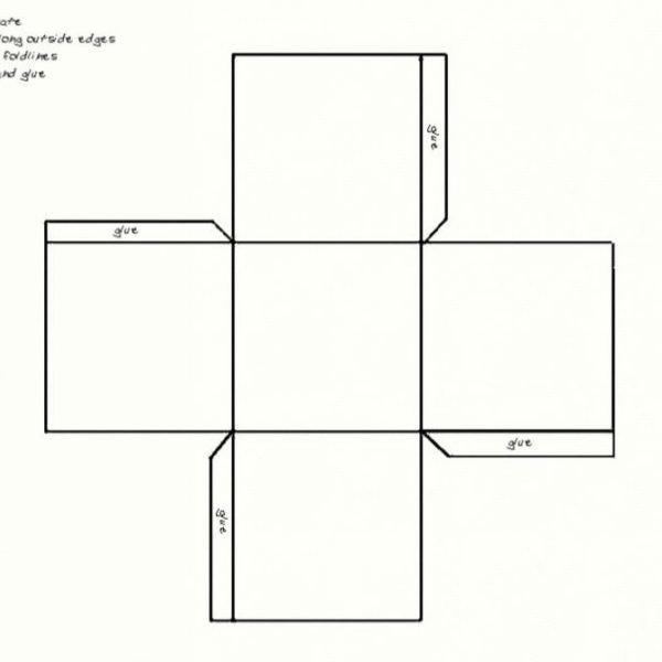 Cardboard Box Template Generator Printable Square Box Template