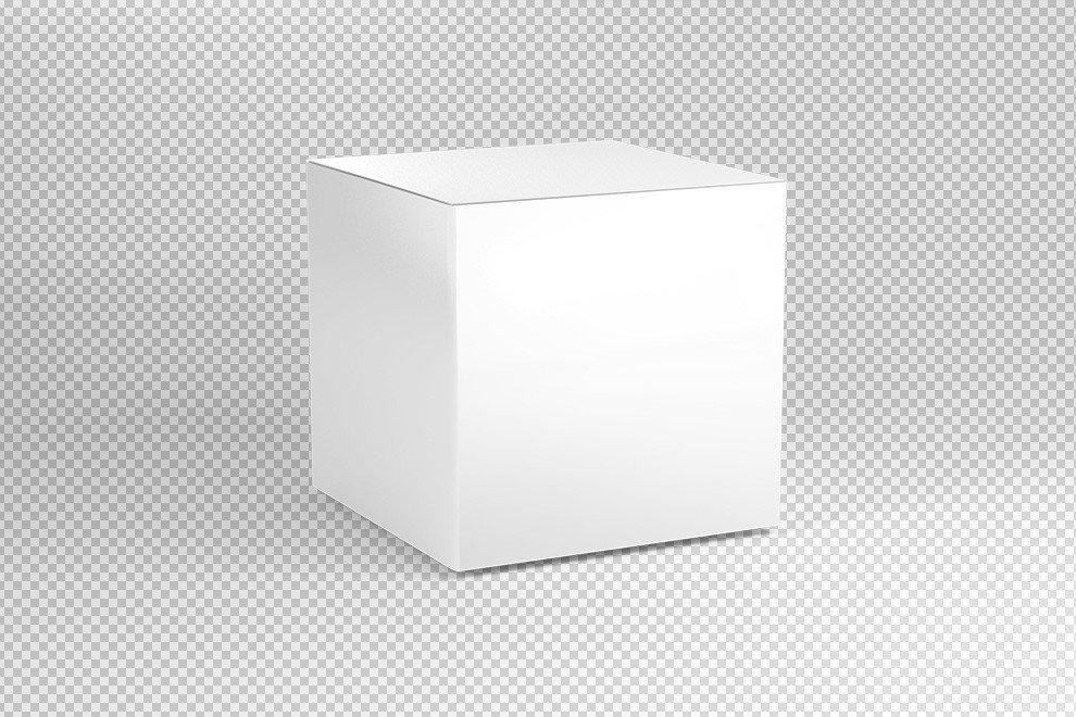 Cardboard Box Template Generator Square Cardboard Box Mockup Generator Mediamodifier