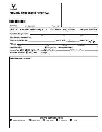 Cardiology Consult Template Specialized Seniors Clinic Referral form Physicians