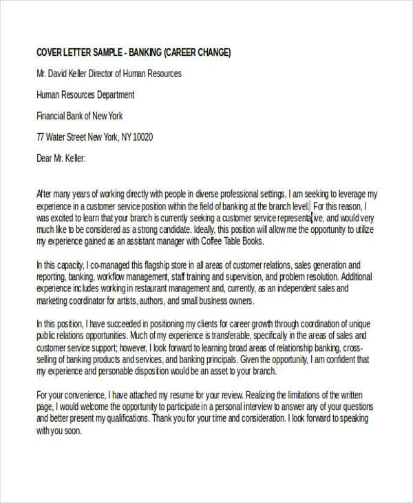 Career Change Cover Letter 6 Career Change Cover Letter Free Sample Example
