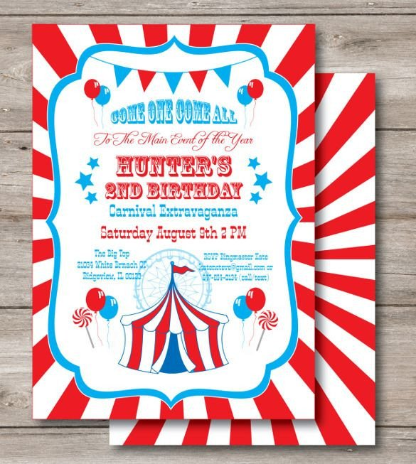 Carnival Invitation Template Free 25 Best Ideas About Carnival Birthday Invitations On
