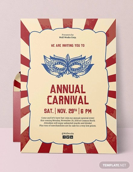 Carnival Invitation Template Free 25 Circus Party Invitation Templates Jpg Psd