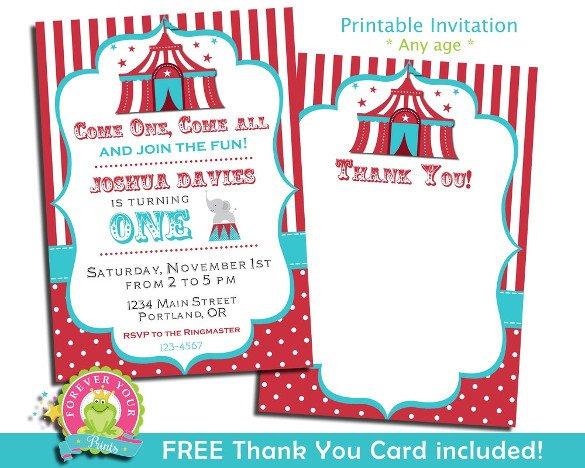 Carnival Invitation Template Free 27 Carnival Birthday Invitations Free Psd Vector Eps