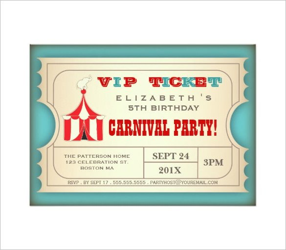 Carnival Invitation Template Free Circus Party Invitation Template – 23 Free Jpg Psd