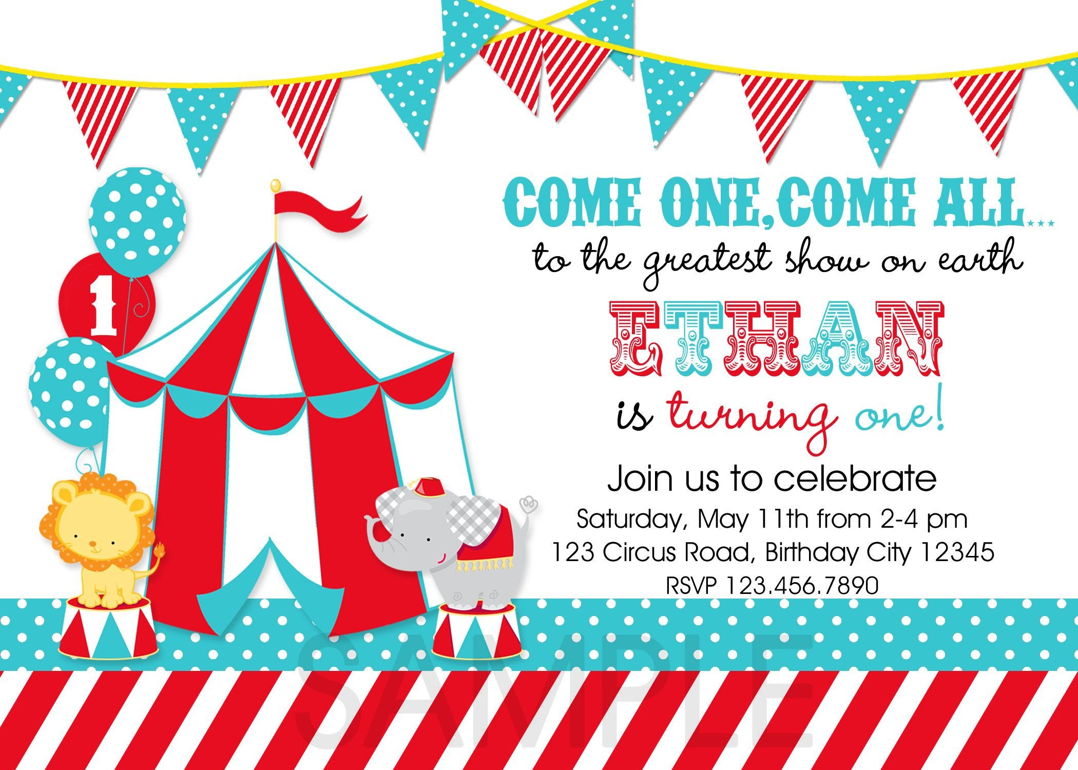 Carnival Invitation Template Free Circus Party Invitations Template 3zcfy9xw