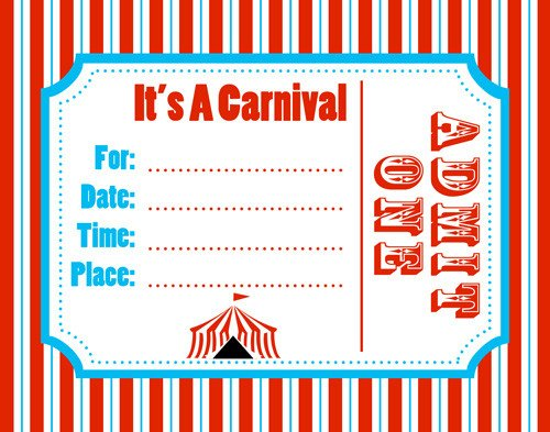 Carnival Invitation Template Free Free Carnival Ticket Template Download Free Clip Art