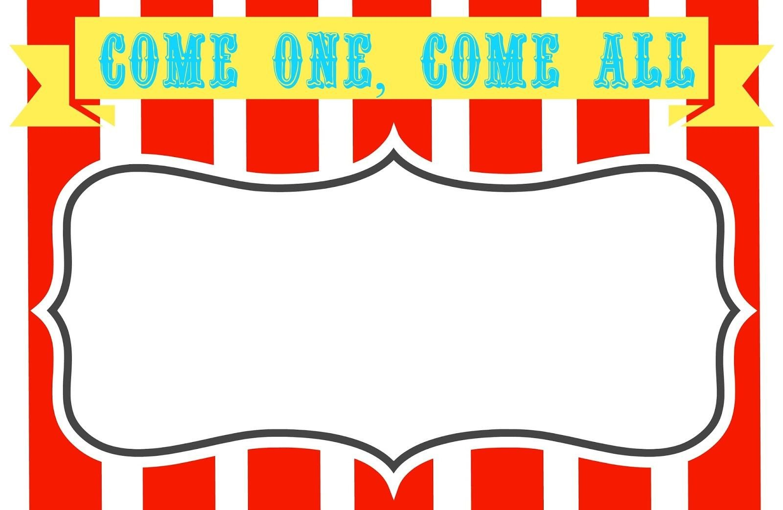 Carnival Invitation Template Free Free Printable Carnival themed Invitations