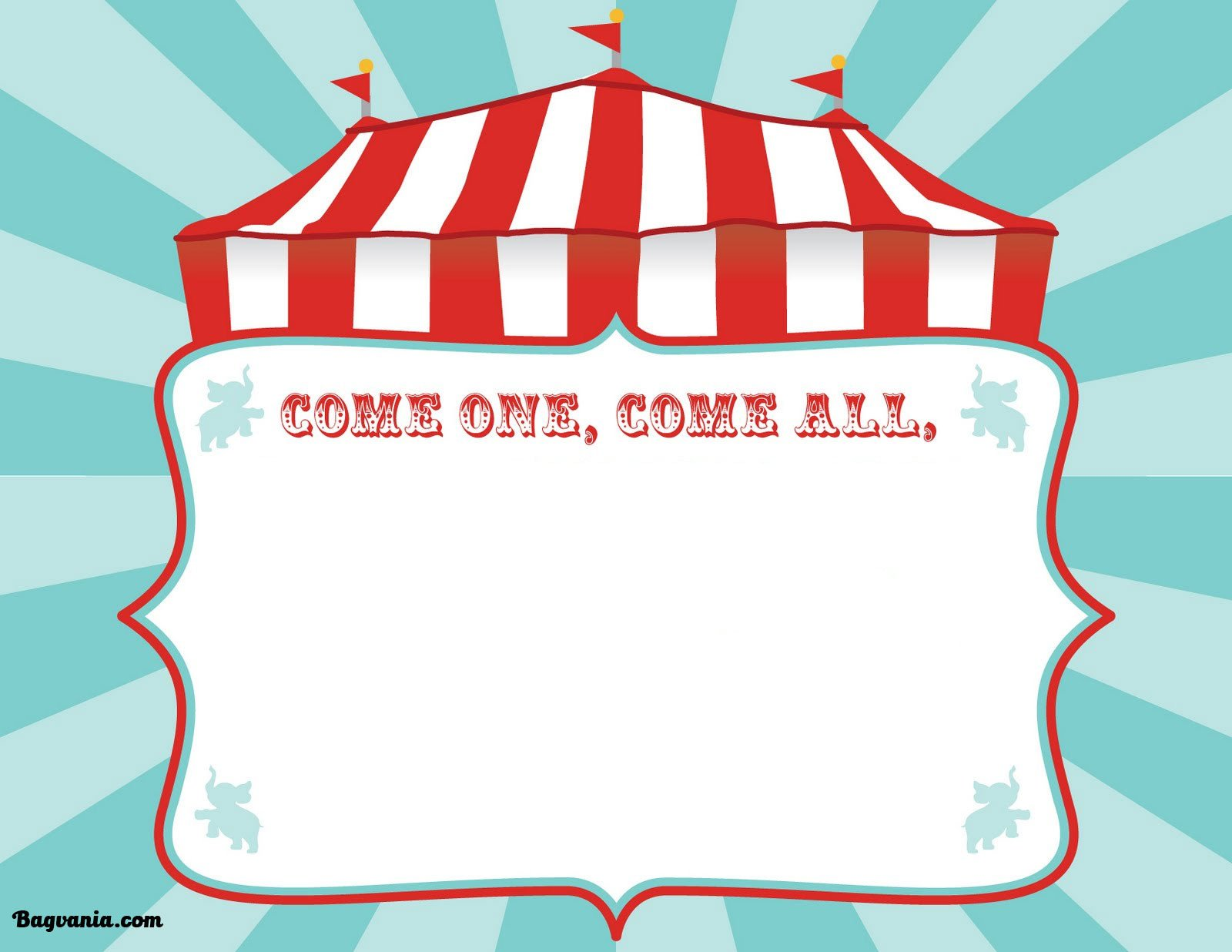 Carnival Invitation Template Free Free Printable Circus Birthday Invitations Template – Free