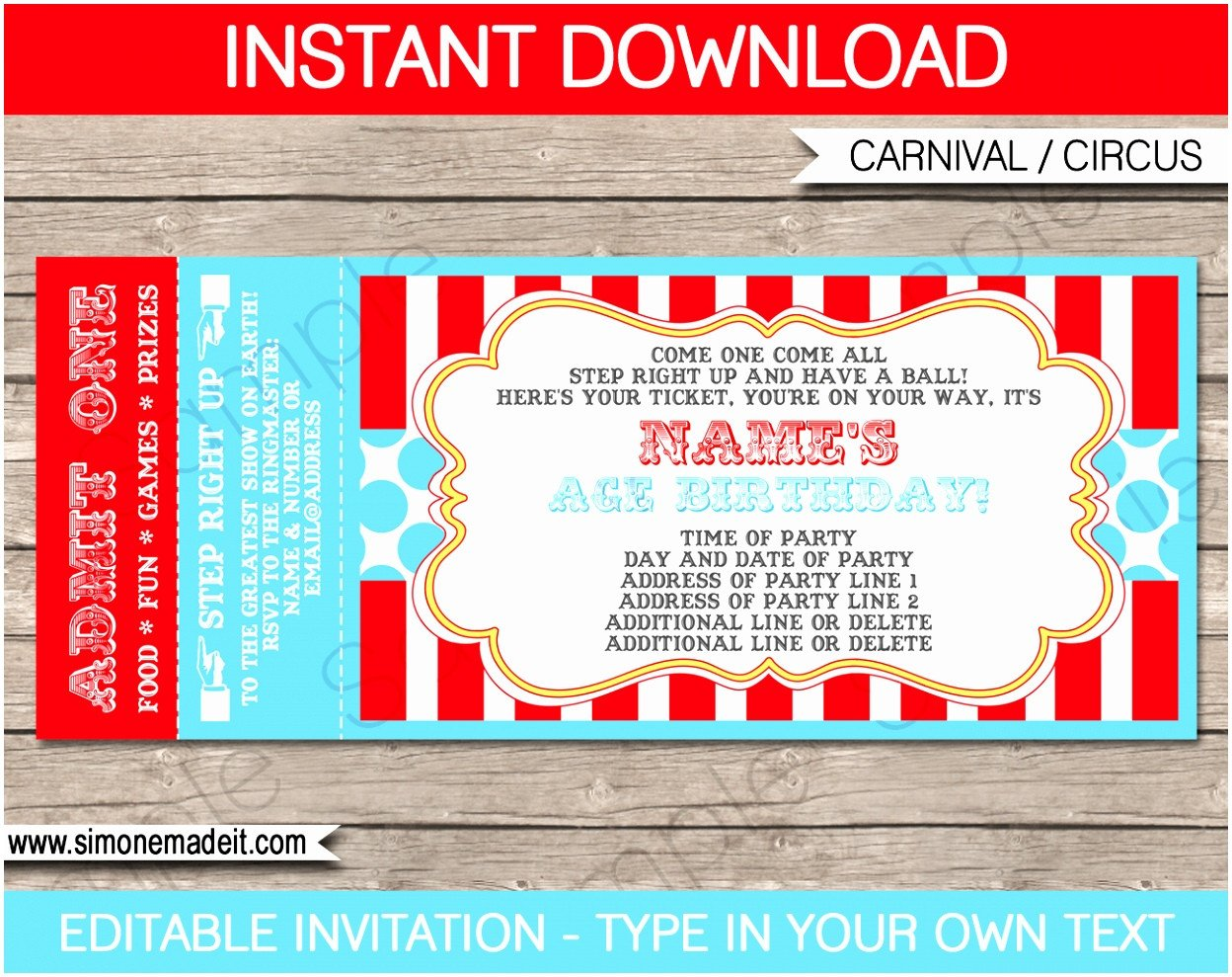 Carnival Ticket Invitation Template Free 12 Carnival Ticket Invitation Template Prwtv