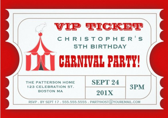 Carnival Ticket Invitation Template Free 49 Ticket Invitation Templates Psd Ai Word Pages