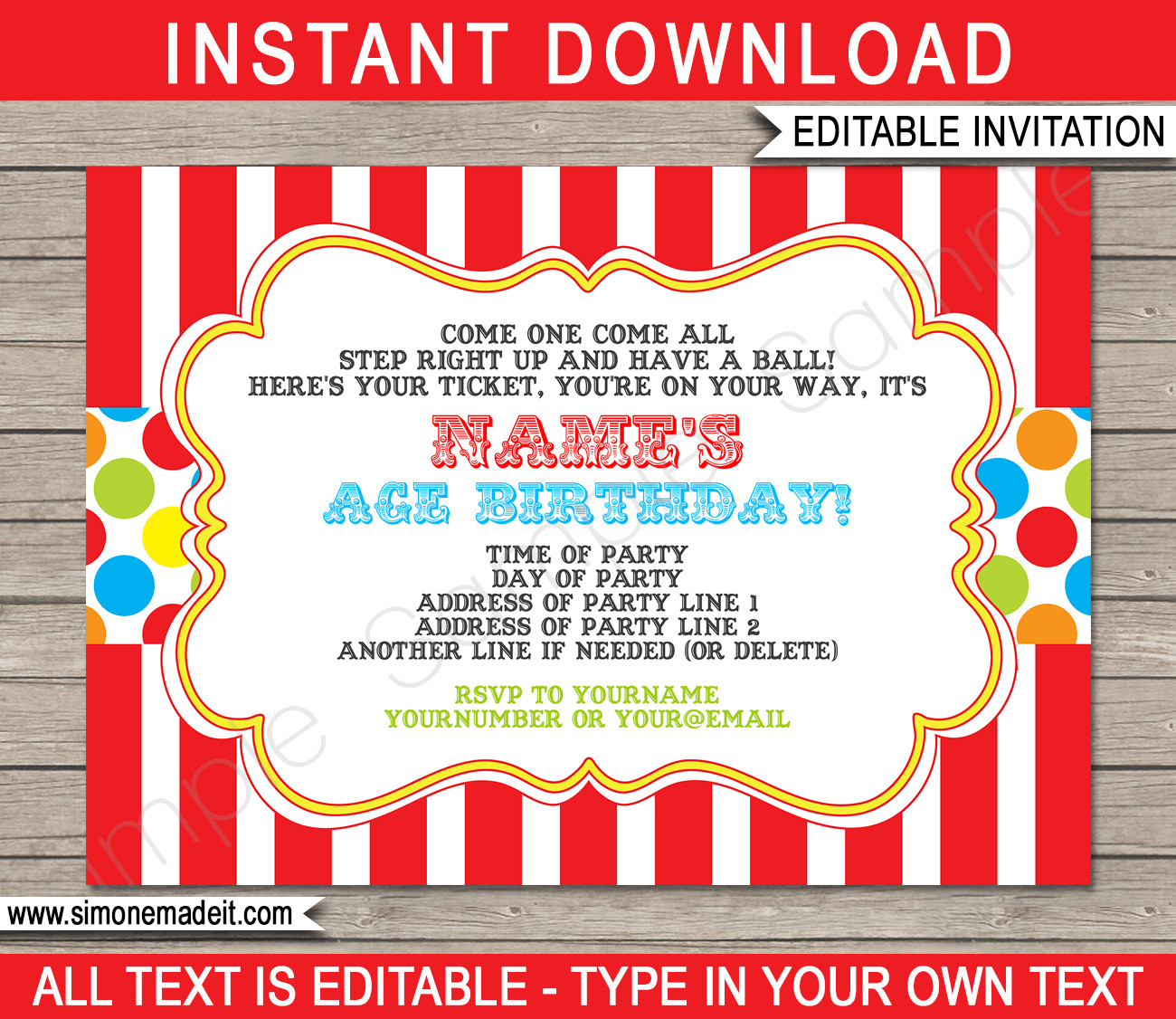 Carnival Ticket Invitation Template Free Carnival Invitation Template