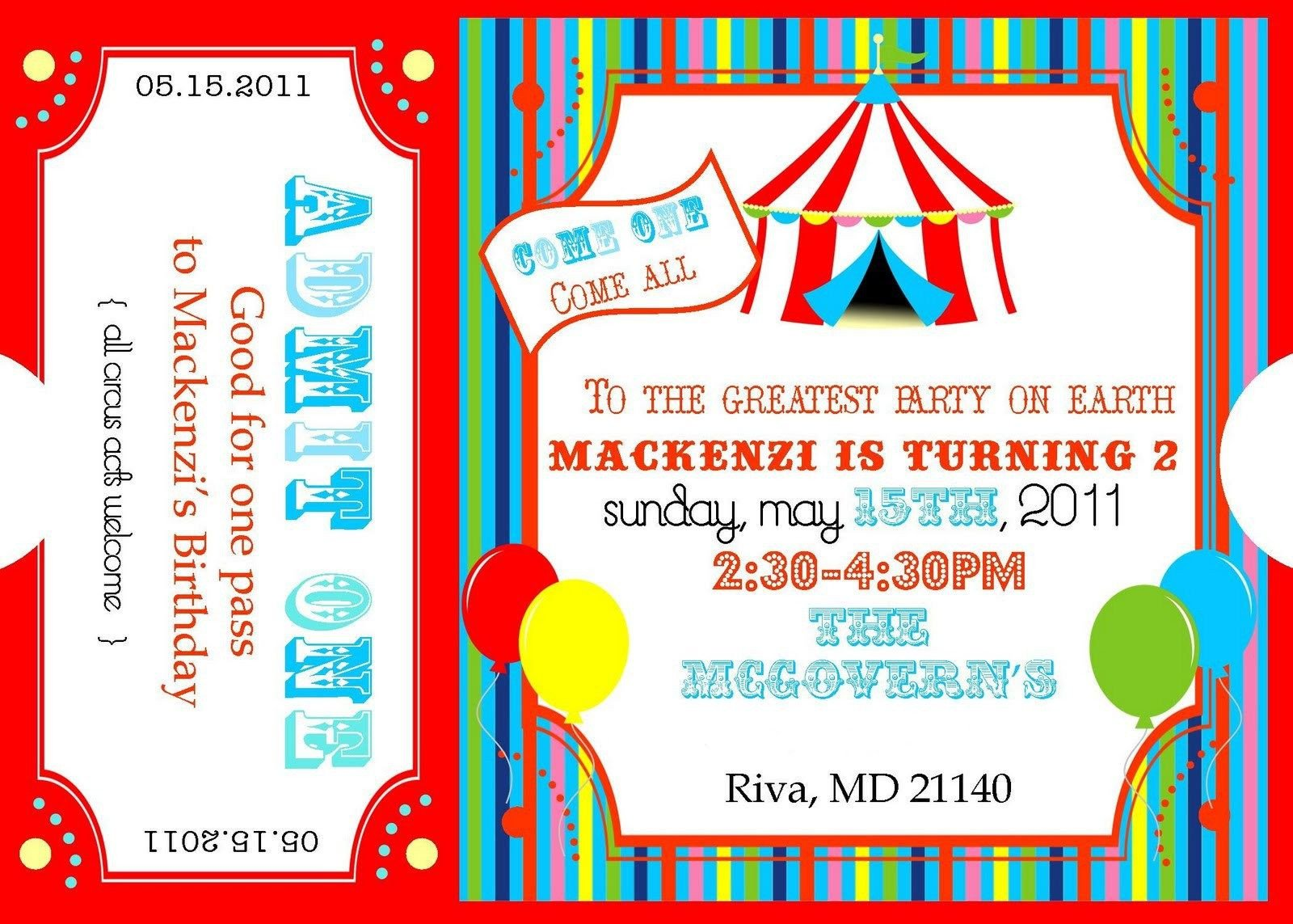 Carnival Ticket Invitation Template Free Free Printable Circus Invitation Templates Please forgive