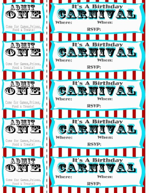 Carnival Ticket Invitation Template Free Seeshellspace Carnival Free
