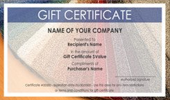 Carpet Cleaning Gift Certificate Template Carpet and Flooring Gift Certificate Templates