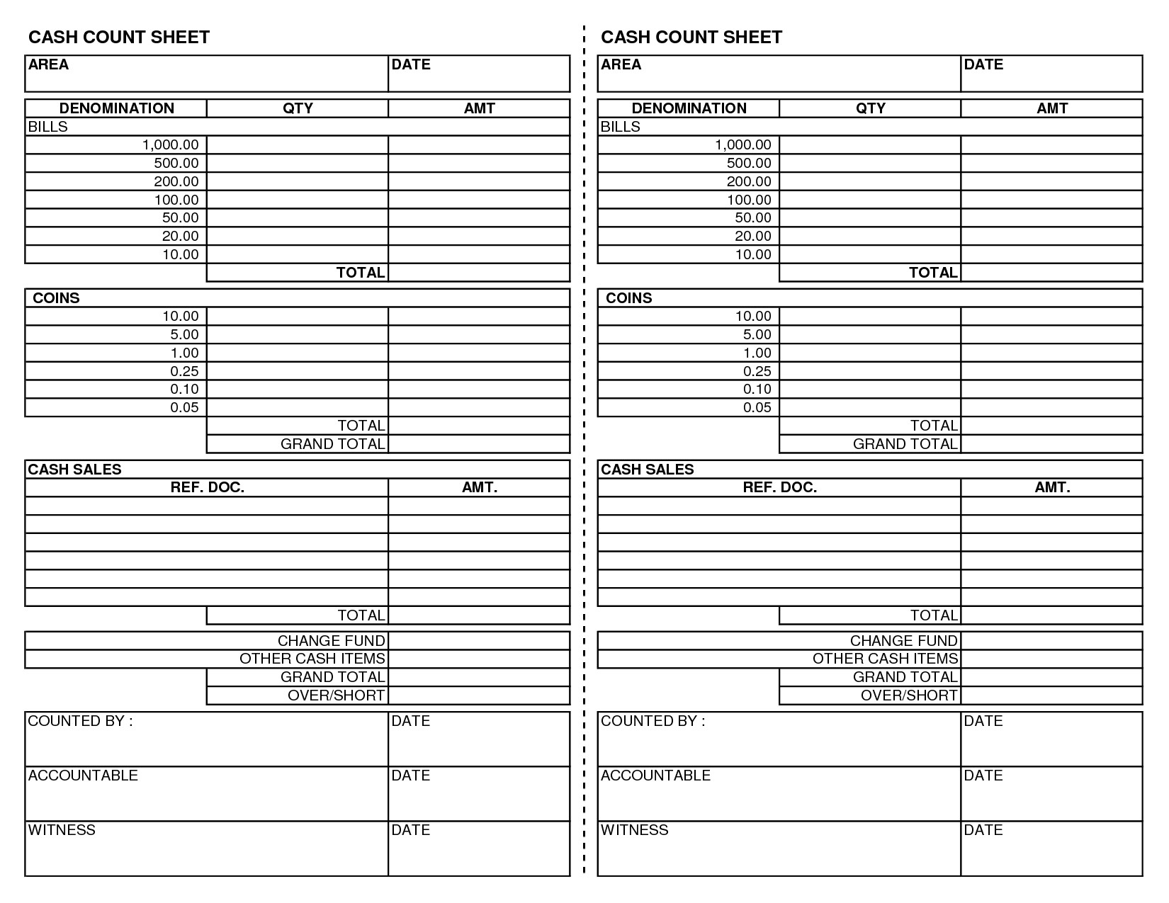 Cash Drawer Count Sheet Template Best S Of Cash Count Sheet Excel Cash Drawer Count