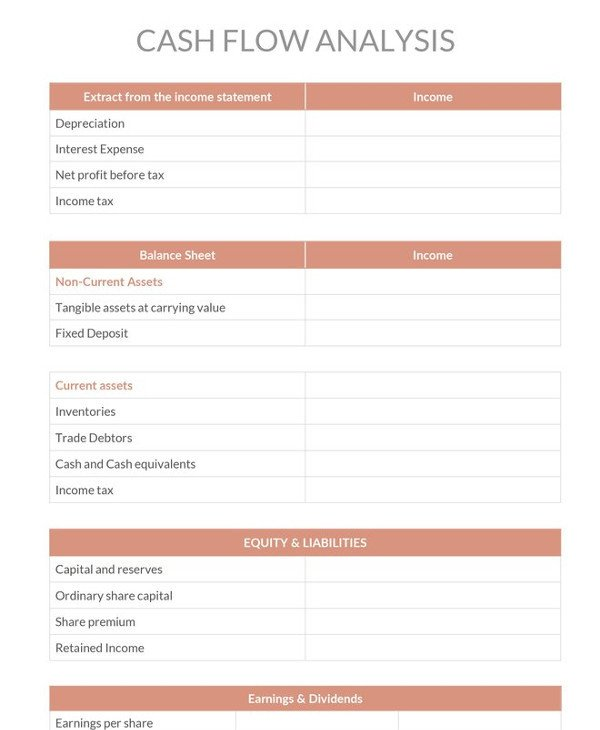 Cash Flow Analysis Template 11 Cash Flow Analysis Examples Pdf