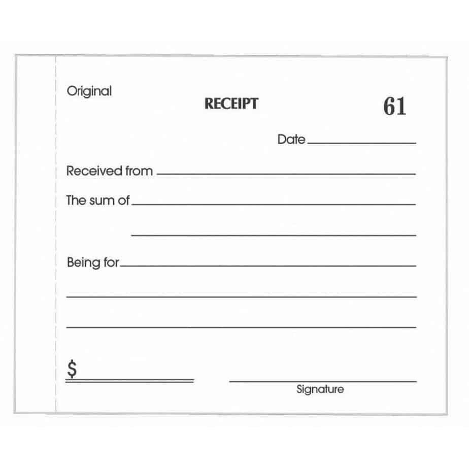 Cash Receipt Template Word Doc 5 Cash Receipt Templates Excel Pdf formats