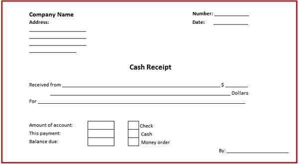 Cash Receipt Template Word Doc Cash Receipt Template Microsoft Word Templates