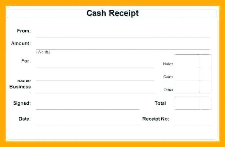 Cash Receipt Template Word Doc Cash Receipt Template Word Doc