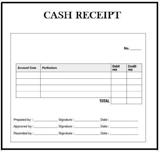 Cash Receipt Template Word Doc Customizable Cash Receipt Template In Word Excel and Pdf