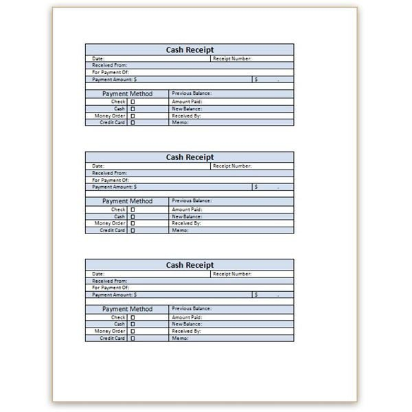 Cash Receipt Template Word Doc Download A Free Cash Receipt Template for Word or Excel