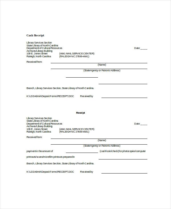 Cash Receipt Template Word Doc Word Receipt Template 7 Free Word Documents Download