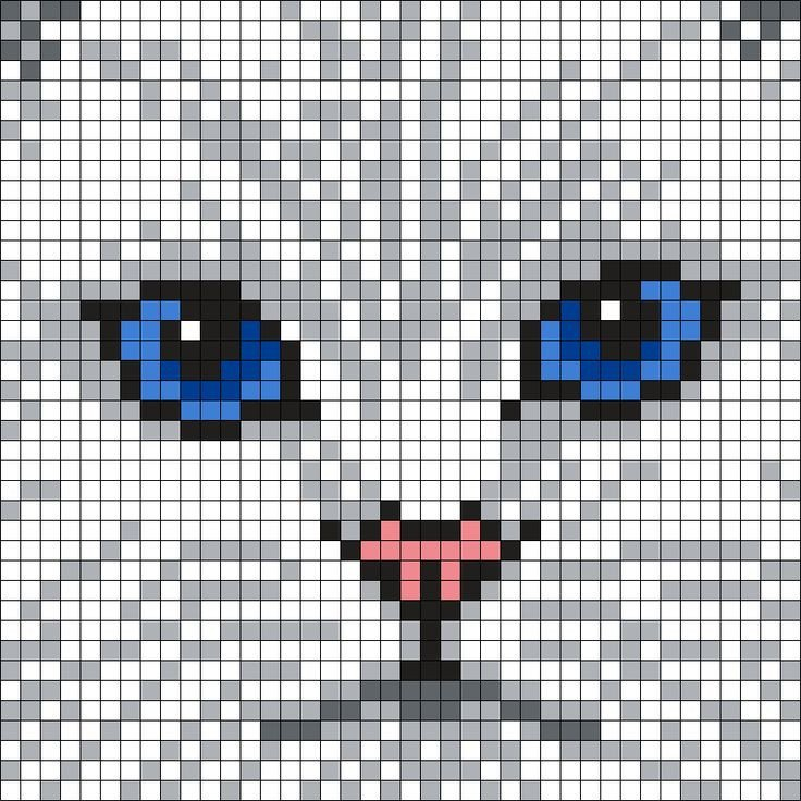 Cat Pixel Art Grid 7600 Best Images About Perler Beads On Pinterest