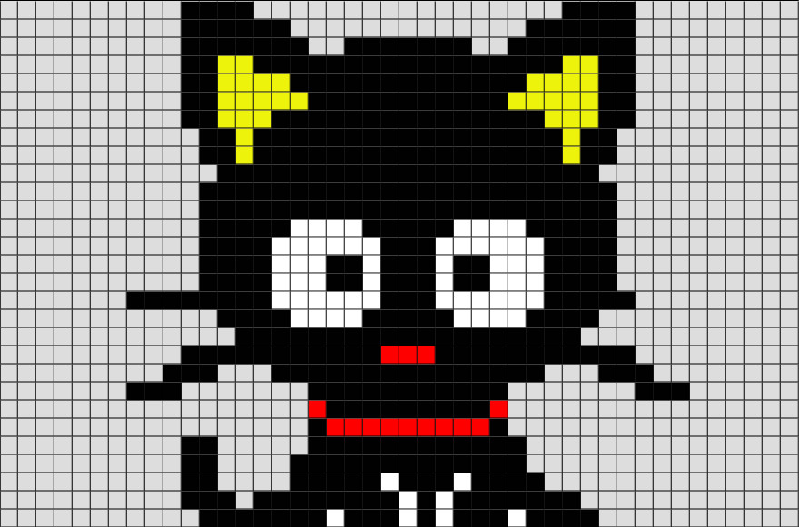 Cat Pixel Art Grid Black Cat Pixel Art – Brik
