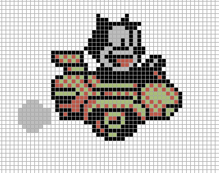Cat Pixel Art Grid Pixelartnes