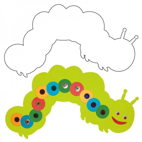 Caterpillar Cut Out Caterpillar Cut Out Paper Cut Out Hygloss Products