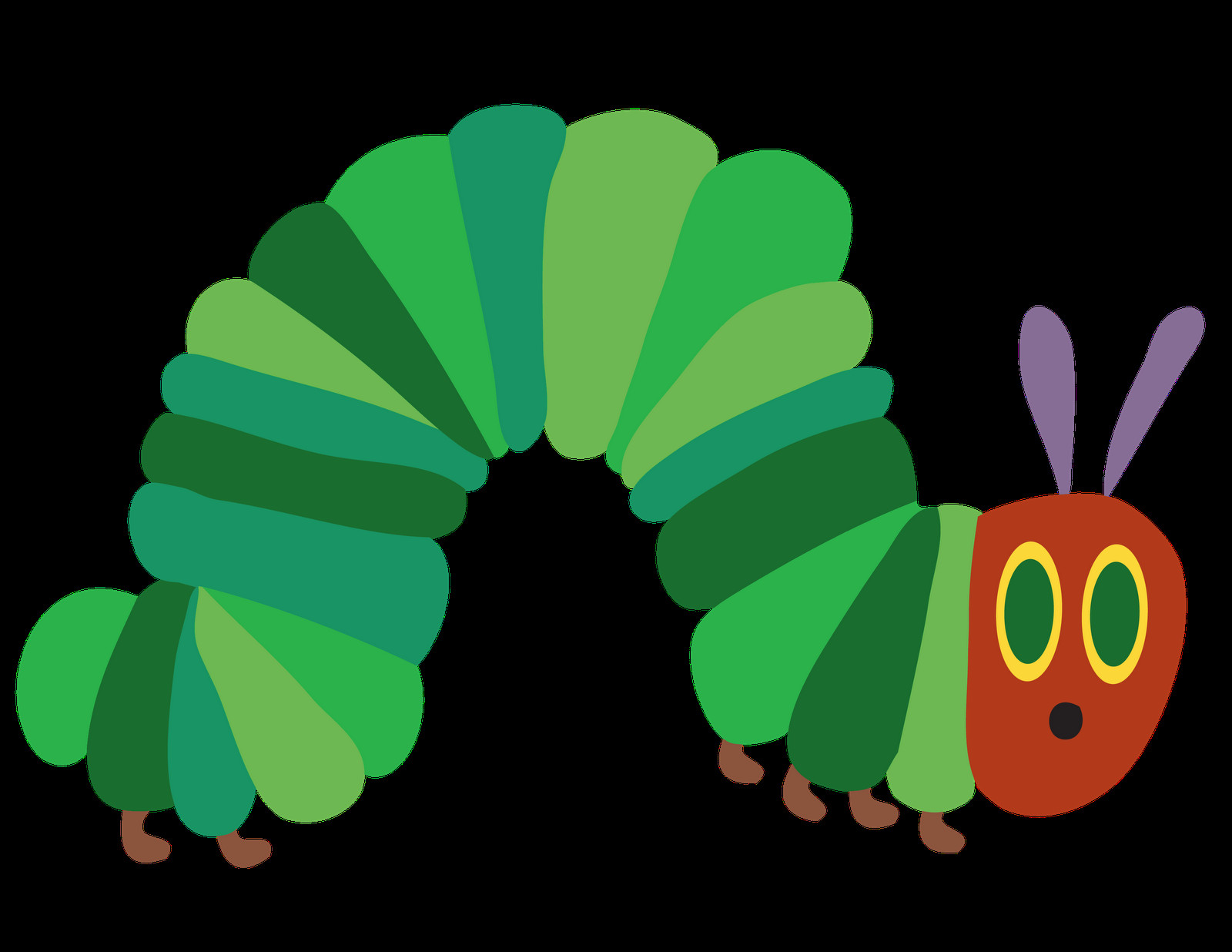 Caterpillar Cut Out Hungry Caterpillar Felt Pieces Templates
