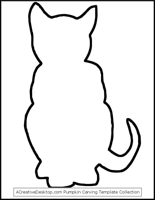Caterpillar Cut Out Photo Black Cat Outline Stencil