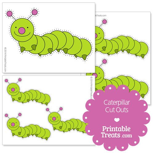 Caterpillar Cut Out Printable Caterpillar Cut Outs — Printable Treats