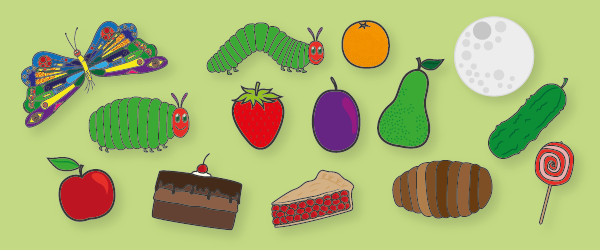 Caterpillar Cut Out the Very Hungry Caterpillar Story Cut Outs