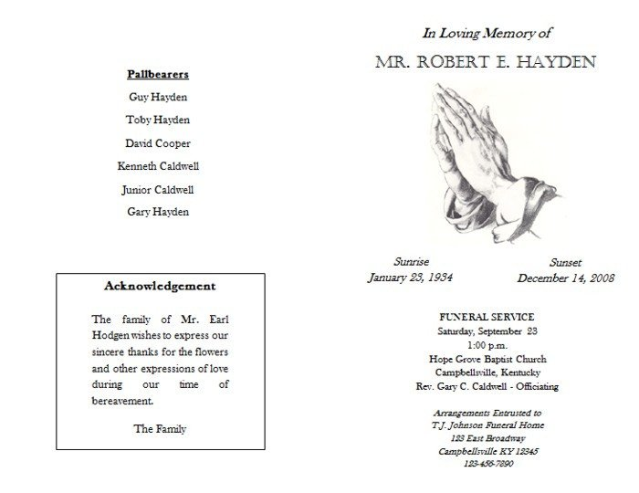 Catholic Funeral Mass Template 27 Of Catholic Funeral Mass Program Template