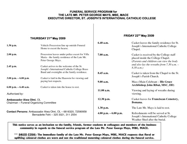 Catholic Funeral Mass Template Catholic Funeral Program Free Download Aashe