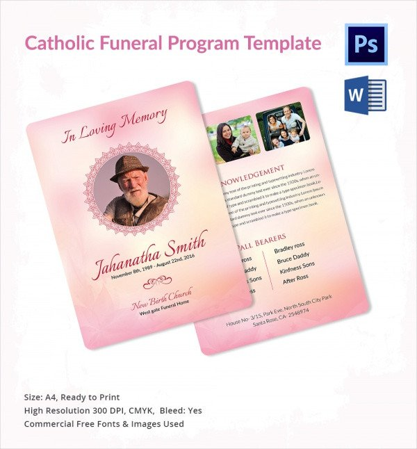 Catholic Funeral Mass Template Sample Catholic Funeral Program 12 Documents In Pdf