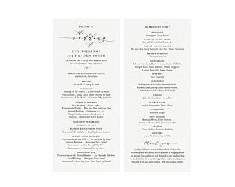 Catholic Wedding Program Template Catholic Wedding Programs