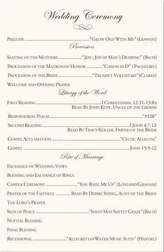 Catholic Wedding Program Template Free Best 25 Wedding Ceremony Program Template Ideas On
