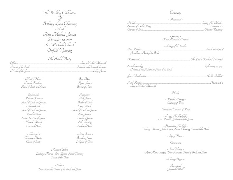 Catholic Wedding Program Template Free Wedding Program Templates Wedding Programs Fast