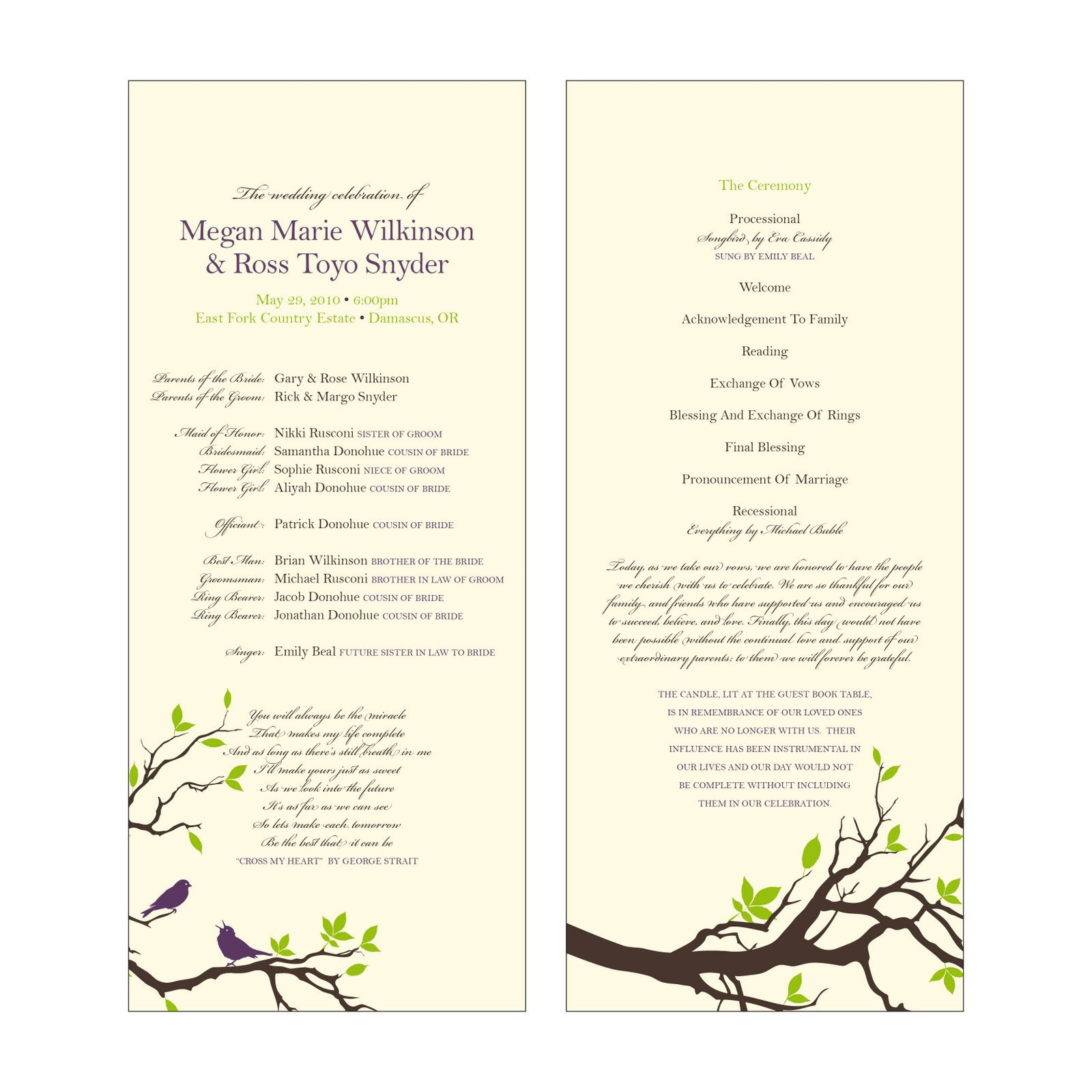 Catholic Wedding Program Template Lameeka S Blog Catholic Wedding Programs