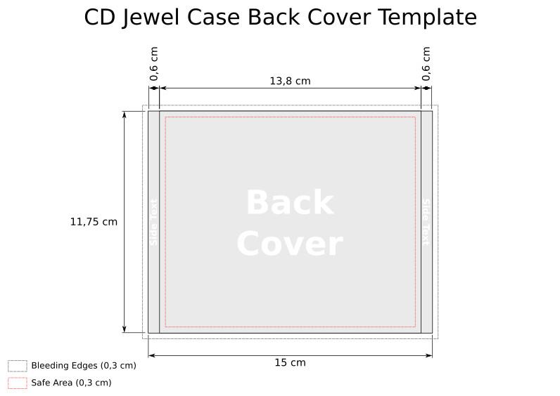 Cd Case Insert Template Cd Jewel Case Template