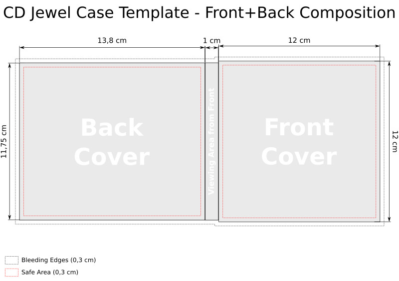 Cd Case Insert Template Cd Templates for Jewel Case In Svg