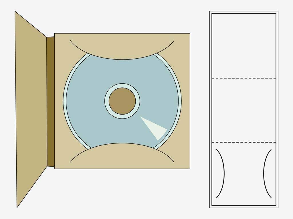 Cd Case Template Printable Cd Case Template Vector Art & Graphics