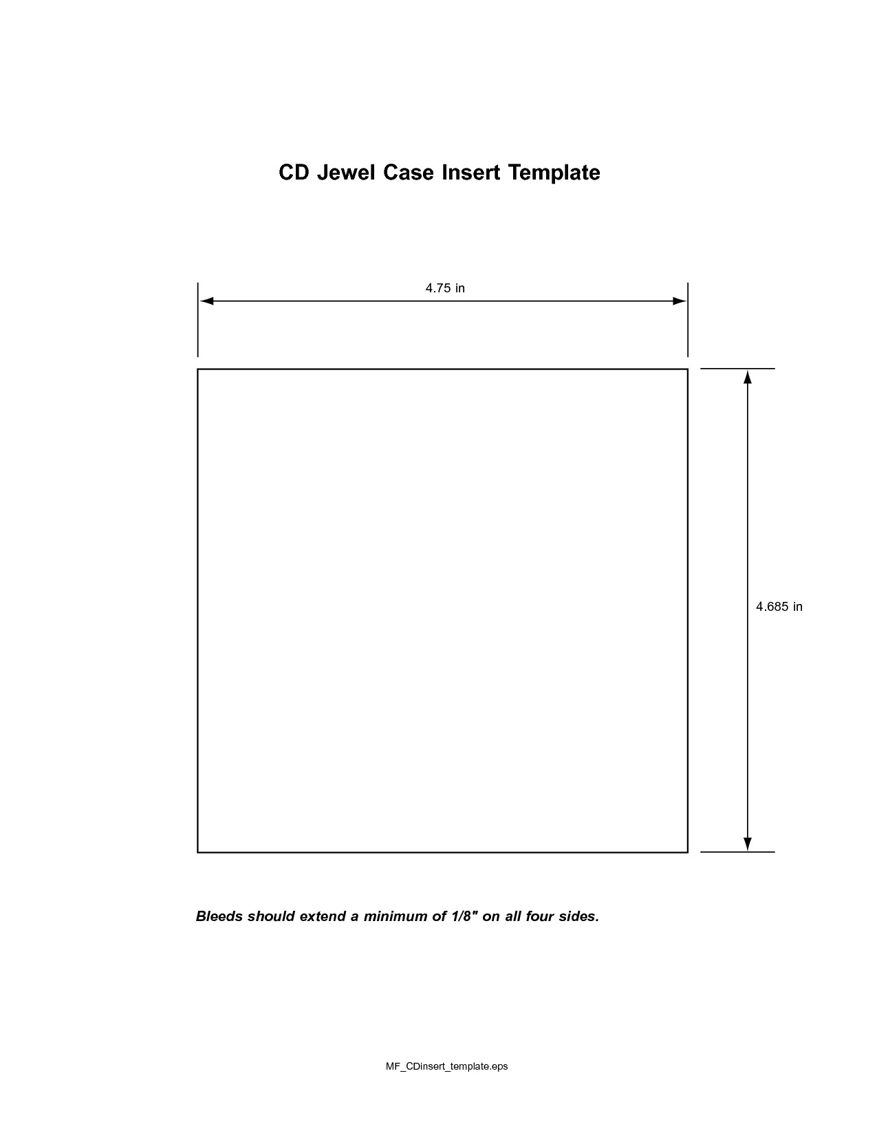 Cd Jewel Case Template Cd Insert Template
