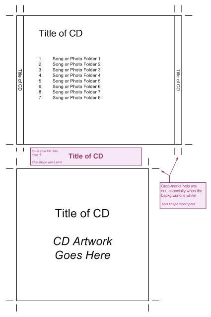 Cd Jewel Case Template Cd Jewel Case Template – Visio Guy